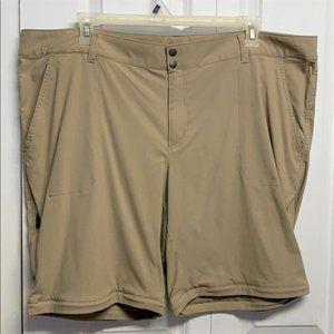 Columbia Omni Shild Shorts Size 24W Beige